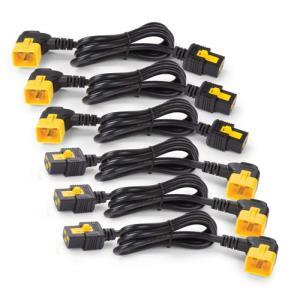 Power Cord Kit (6 Ea)/ Locking/ C19 To C20 (90 Degree) - 0.6m