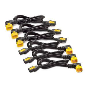 Power Cord Kit (6 ea), Locking, C13 TO C14 (90 Degree)/ 0.6m