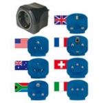 Travel Adapter Plug Set 7 Inserts For More Than 150 Countries