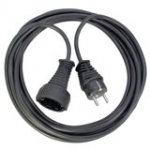 230v Extension Cable Schuko Male - Shuko Female Black (1165460)