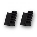 Desktop Cable Rack Black 2pcs