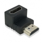 Adapter HDMI A Male To Female, Angled 90 Degree Down