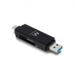 Compact Card Reader USB 3.1 Gen1 (USB 3.0) with a Type-C and Type-A connector