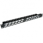 24 Port Keystone Jack 45� Patch Panel Without Connectors
