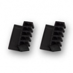 Desktop Cable Rack Black 2pcs
